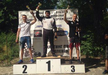 Юлиан Серафимов и Лора Христова с победи в първия кръг на Картинг Клуб Плевен (ВИДЕО)