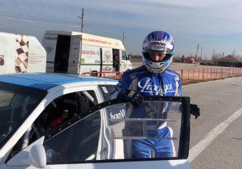 Любомир Гърков направи първи обиколки със състезателна кола