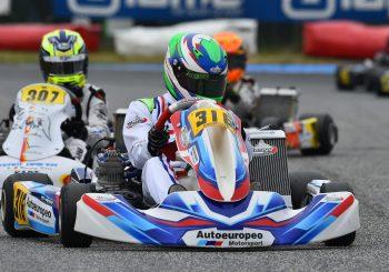Калоян Върбицалиев с първи подиум в италианския шампионат по картинг